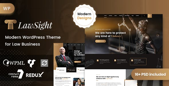 lawsight wordpress avukatlık teması
