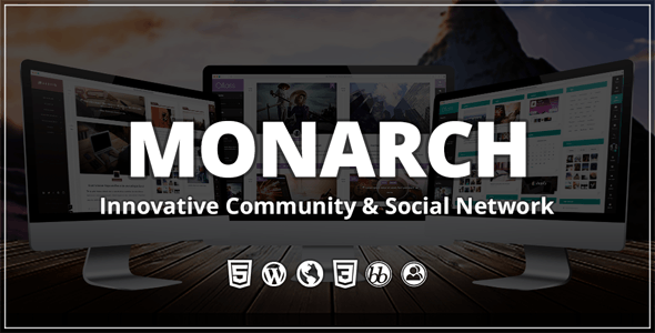 Monarch - Innovative WordPress Community Theme - BuddyPress WordPress