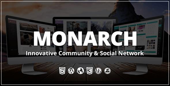 Monarch - Innovative WordPress Community Theme