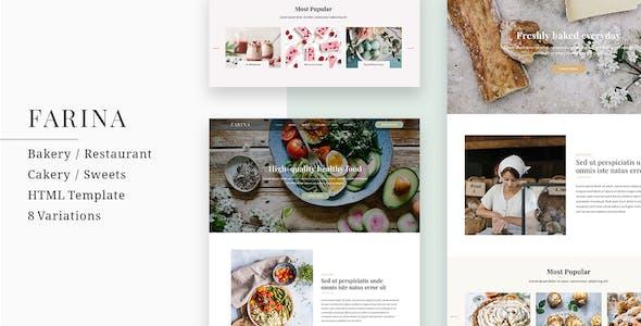 Farina - Bakery / Restaurant / Cakery HTML Template