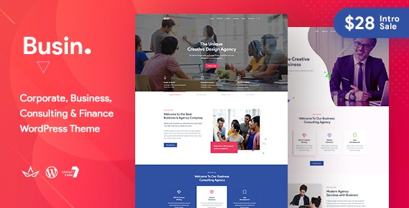 Busin | Corporate Business WordPress Theme - Corporate WordPress