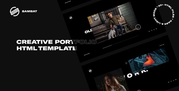 Sambat - Creative Digital Portfolio HTML Template - Creative Site Templates