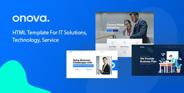 Onova - Technology IT Solutions & Services HTML5 Template - Corporate Site Templates