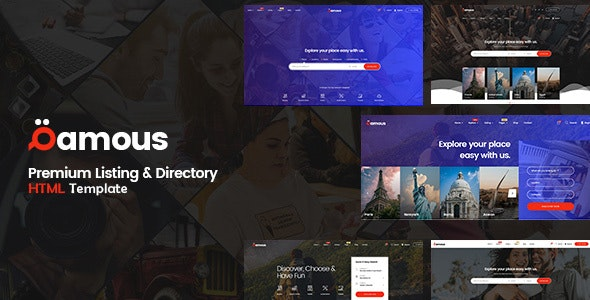 Qamous - Directory Listing Template - Business Corporate
