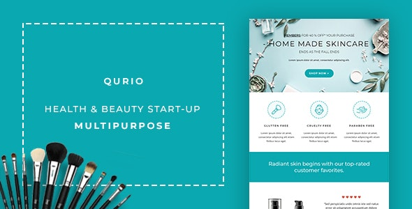 Qurio - Multipurpose Responsive Email Template - Email Stationery Email Templates