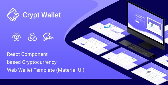 CryptWallet - Cryptocurrency React Web Wallet Template - Business Corporate