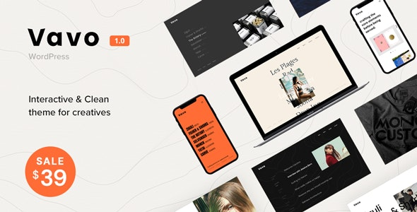 Vavo - An Interactive & Clean Theme for Creatives - Portfolio Creative