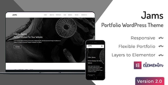 Jams - Minimal Portfolio WordPress Theme - Portfolio Creative