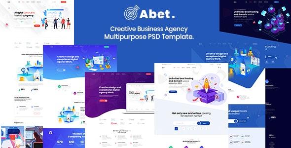 Abet - Hosting, SEO & Digital Marketing Agency PSD Template - Marketing Corporate