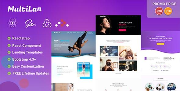Multilan || React & Redux - Multipurpose Creative Landing Page Template