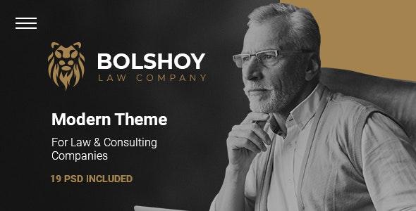 BOLSHOY - Modern PSD Template - Business Corporate