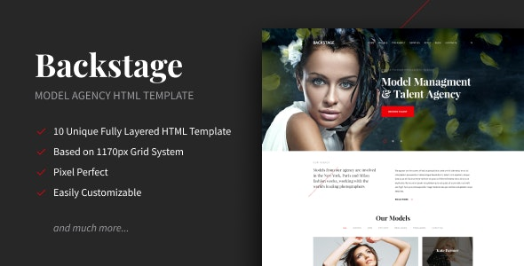 Backstage - Creative Portfolio HTML Template - Portfolio Creative