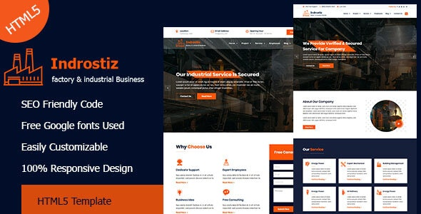 Indrostiz - Factory & Industrial HTML Template - Corporate Site Templates