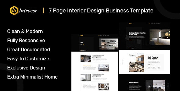 Introcor - Responsive HTML Template - Corporate Site Templates