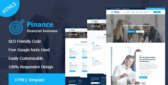 Pinance - Financial & Corporate Business HTML5 Template - Corporate Site Templates
