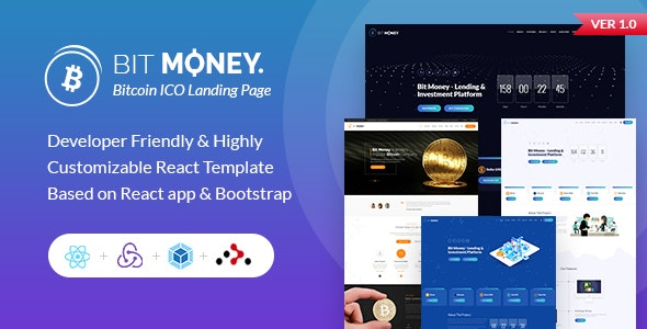 Bit Money - React Bitcoin Template - Corporate Site Templates