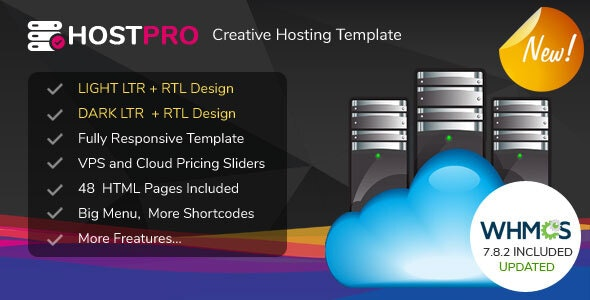 HOSTPRO - WHMCS & HTML Responsive Professional Clean and Creative Hosting and multipurpose Template - Hosting Technology