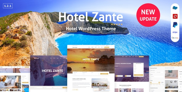 Zante - Hotel Booking Theme - Travel Retail