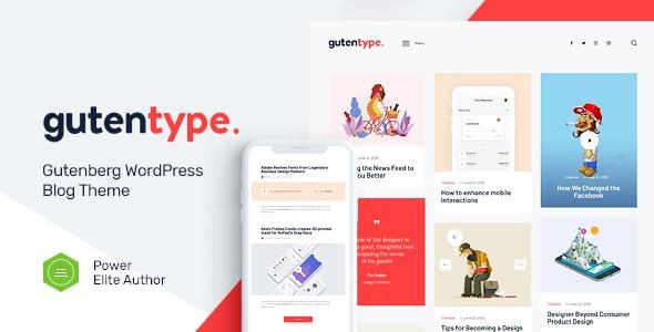 Gutentype | 100% Gutenberg WordPress Theme for Modern Blog - Personal Blog / Magazine