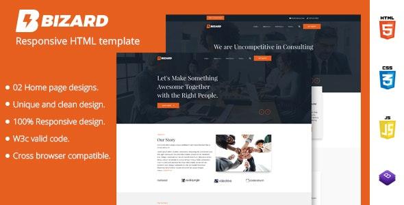 Bizard - Responsive Business HTML Template - Site Templates