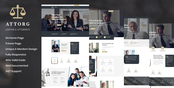 Attorg -  Lawyer & Attorney HTML Template - Corporate Site Templates