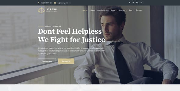 Attorg -  Lawyer & Attorney HTML Template