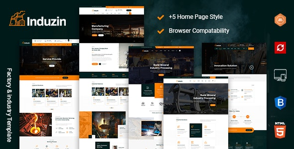 induzin - Industry & Factory HTML Template - Business Corporate