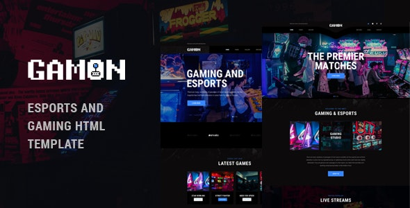 Gamon - eSports and Gaming HTML Template by TonaTheme