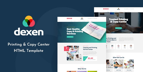 Dexen - Printing and Copy Center HTML Template - Business Corporate