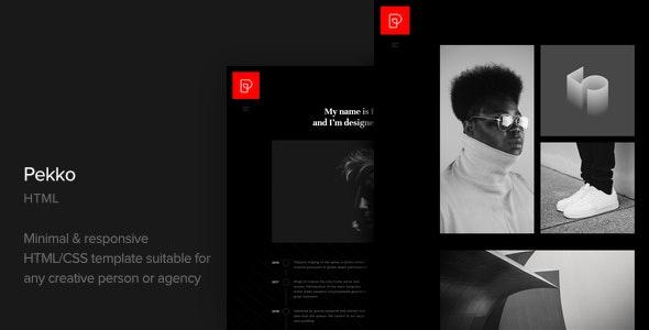 Pekko -  Minimal Black HTML Template - Portfolio Creative