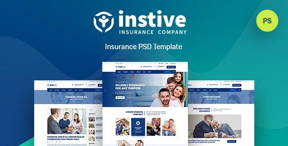 Instive | Insurance PSD Template - Business Corporate