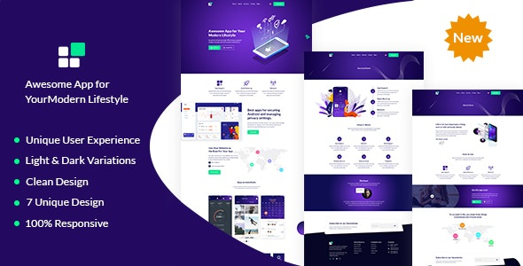 Nicksa - PSD template for Mobile App & Saas - Software Technology
