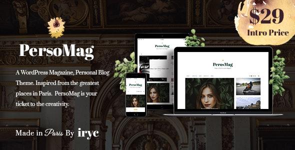 PersoMag - Personal Blog WordPress Theme - Blog / Magazine WordPress