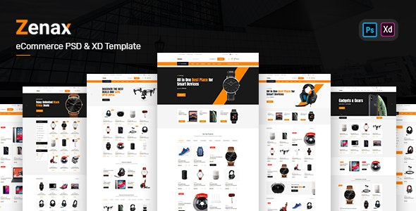 Zenax - eCommerce PSD and XD Template - PSD Templates