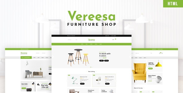 Vereesa - Furniture Shop HTML Template - Shopping Retail
