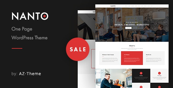 Nanto - OnePage Parallax WordPress Theme - Creative WordPress