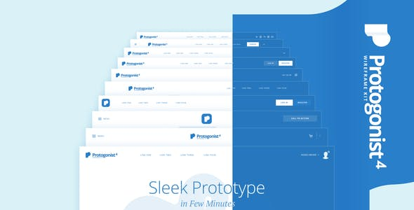 Protogonist 4 Wireframe Kit – Ultimate Wireframe Kit for your next Landing Page
