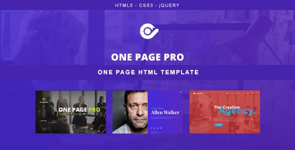 One Page Pro - Multi Purpose HTML Template - Creative Site Templates