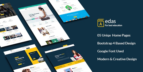 Edas - Education & Learning PSD Template - Corporate PSD Templates