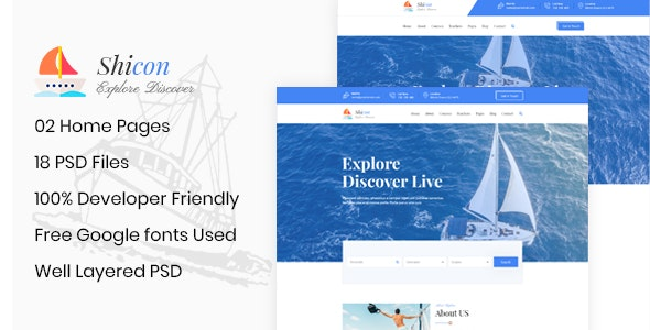 Shicon - Cruises & Water Boat PSD Template - Business Corporate