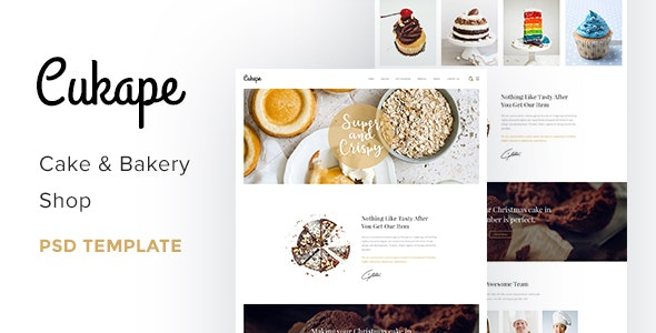 Cukape - Restaurant Cakes and Coffee Shop Template - Food Retail