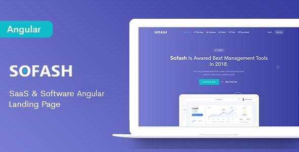 Sofash - SaaS & Software Angular 8 Landing Page - Software Technology