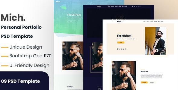 Mich.-Personal Portfolio PSD Template - Portfolio Creative