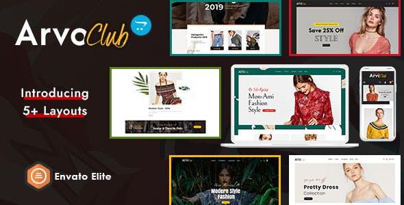 ArvoClub for Boutique - OpenCart Multi-Purpose Responsive Theme