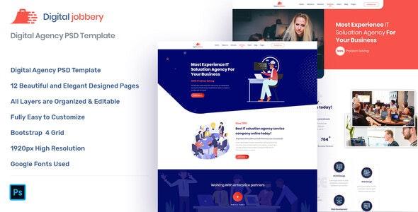 Jobbery - Digital Business PSD Template - Business Corporate
