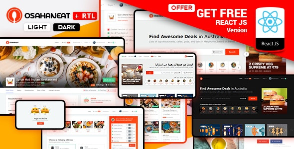 Osahan Eat - Online Food Ordering Website HTML Template - Food Retail