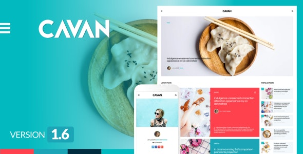 CAVAN - A Distinctive WordPress Blog Theme - Personal Blog / Magazine