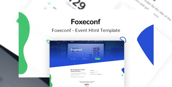 Foxeconf - Event HTML Template by mutationthemes