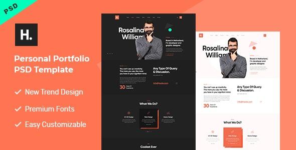 Hasib - Personal Portfolio PSD Template - Portfolio Creative
