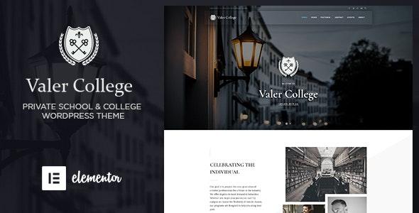 Valer - School & College WordPress Theme - Education WordPress